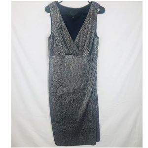 Connected Apparel Silver Sparkly Sleeveless Dress